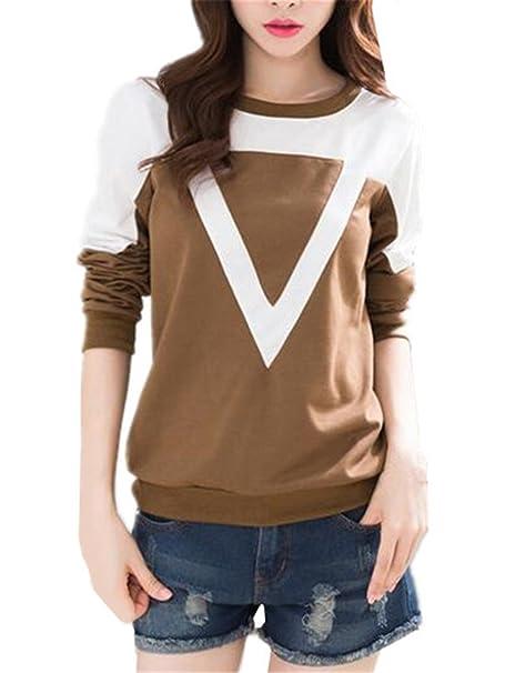 Aivosen Moda Sweater Mujer Clasicos Manga Larga Blusas T-Shirts Casual Suelto Tallas Grandes De