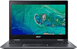 "Acer Spin 5 SP513-53N-70KD 13.3"" Touchscreen 2 in 1 Notebook - 1920 X 1080 - Core i7 i7-8565U - 16 GB RAM - 512 GB SSD - Steel Gray - Windows 10 Pro 64-bit - Intel UHD Graphics 620 - in-Plane Swi"