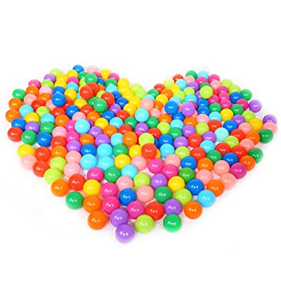 HOWWOH 100 Pieces Colorful Fun Ball Soft Plastic Ocean Ball Baby Kid Toy Swim Pit Toy: Home & Kitchen