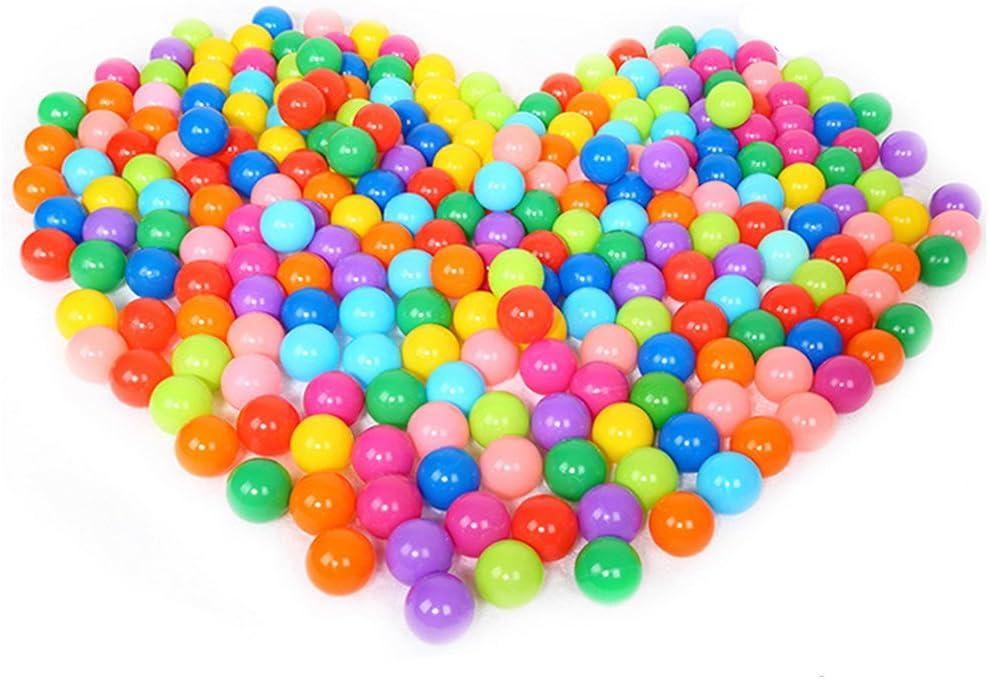 Yinuneronsty 1 Bolsa 100 Piezas 5.6 Cm Bola Oceánica Colorida Bola Divertida De Plástico Suave para Niños Piscina De Bolas De Juguete