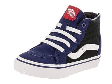 08a0b0bee9 Amazon.com  Vans Toddlers Sk8-Hi Zip (Pop) Blue Dephts Black Skate ...