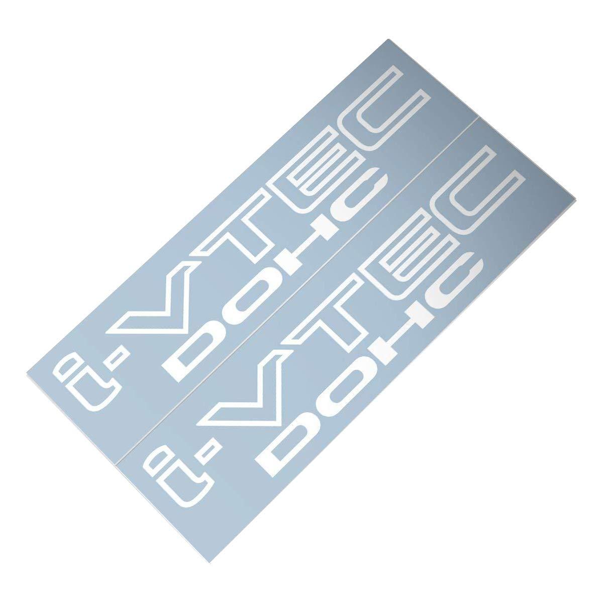 Demupai Honda i-VTEC Dohc Car Decal Sticker White