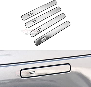 Silver Car Door Handle Trim Cover For Land Rover Range Rover Sport 2014-2019