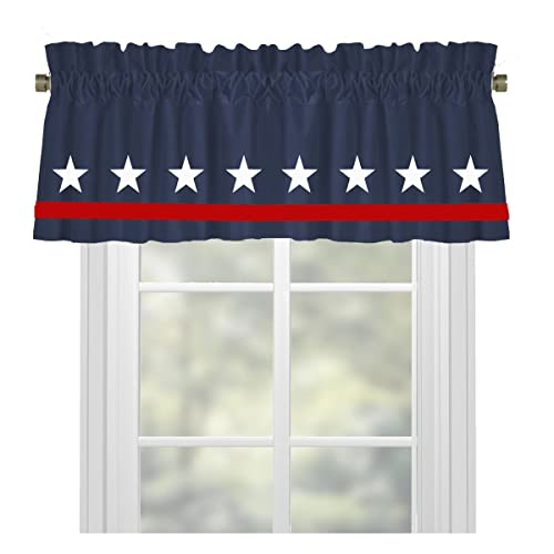 blue window valance light blue stars americana red white and blue window valance treatment in your choice of amazoncom