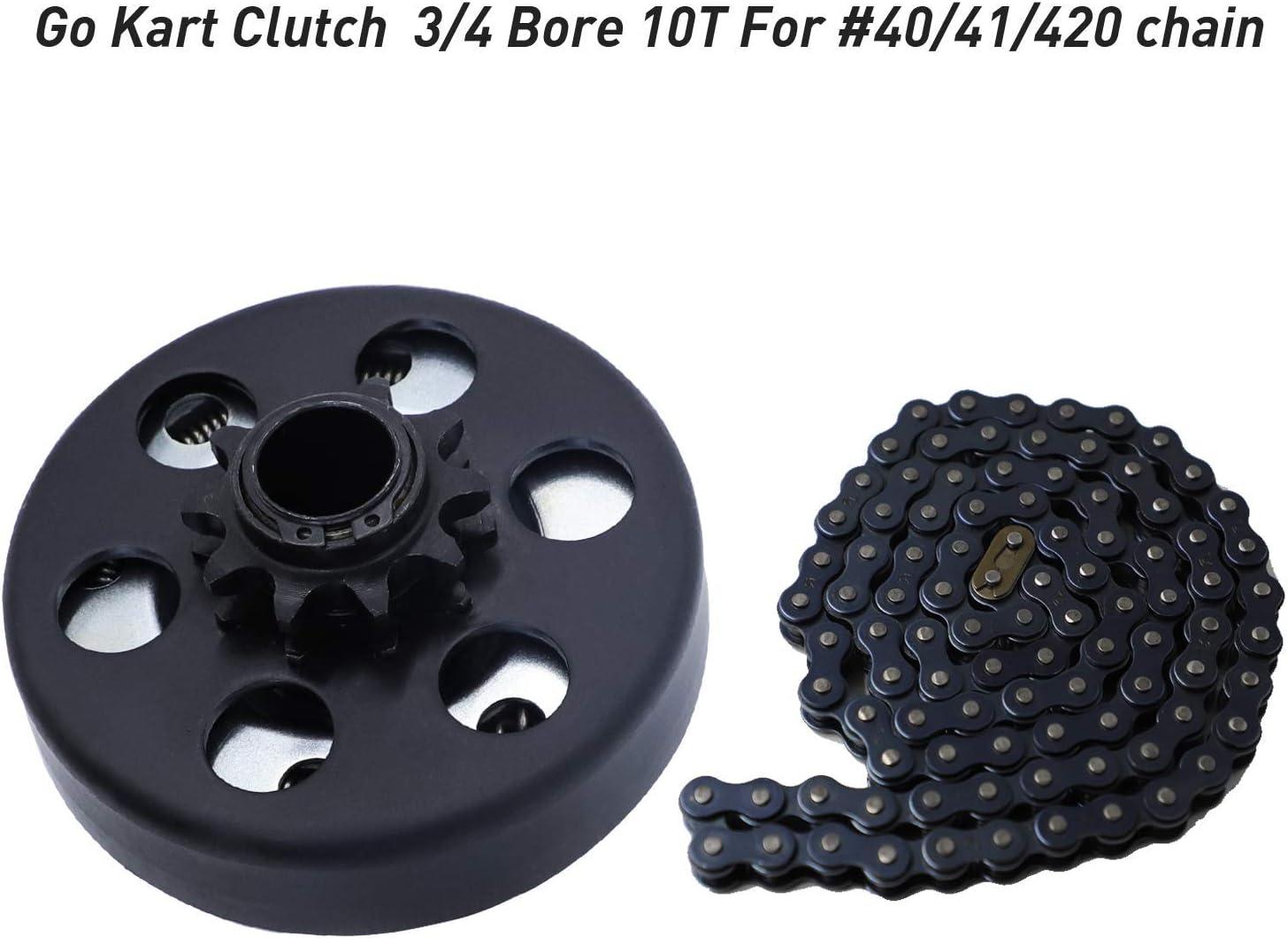 FDJ Minibike Go kart Clutch 3//4 Bore 10 Tooth for #40//41//420 Chain