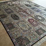 Yilong 8.5 x11.5  Large Oriental Persian Silk Rugs Handmade Antique Qum Design Hand Knotted Living Room Carpet...