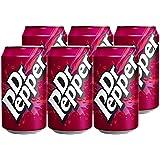 Cocacola 可口可乐 Dr Pepper多特派普/胡椒博士汽水330ml*6(英国进口)