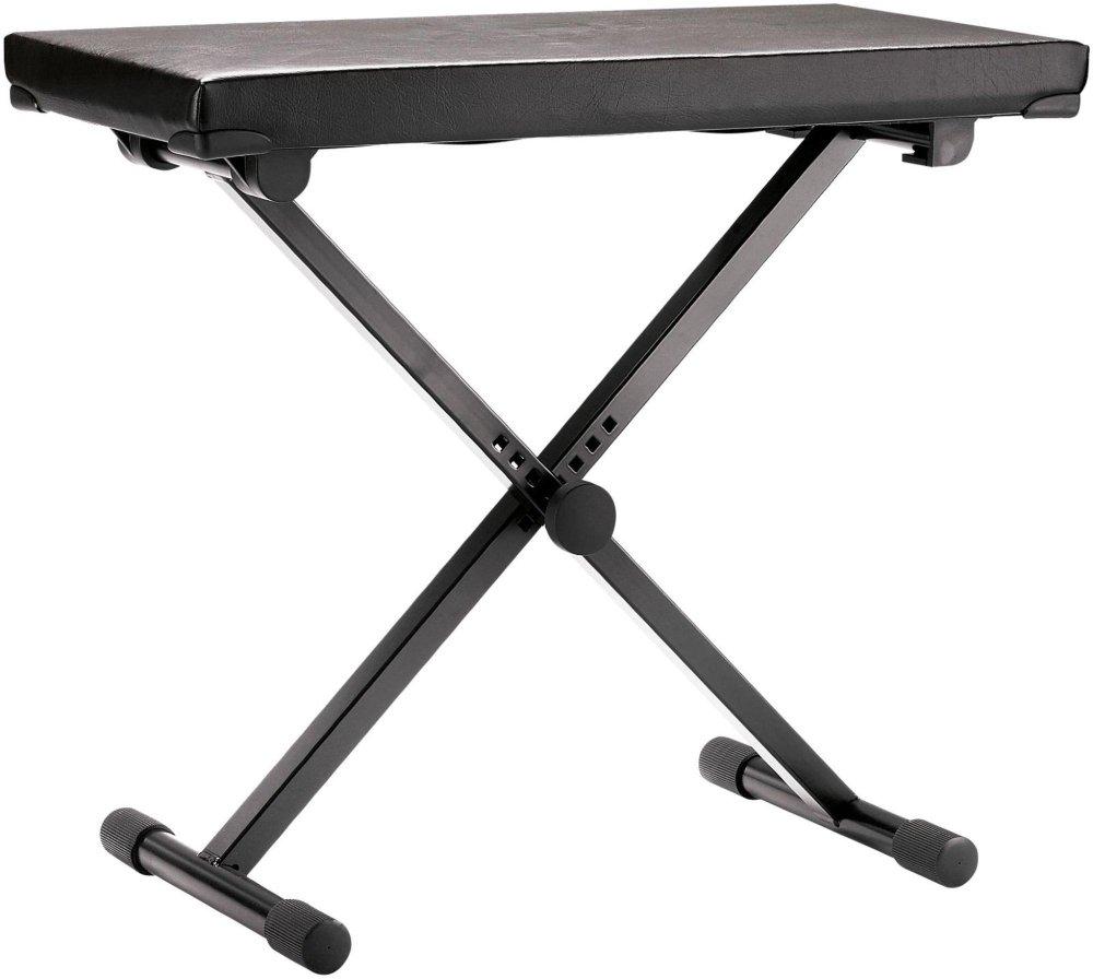 Konig & Meyer 14075-000-55 405mm to 605mm Leather Adjustable Keyboard Bench - Black Konig & Meyer (K&M) 14075.000.55
