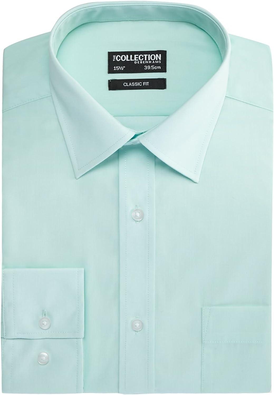 Debenhams - Camisa Formal - Manga Larga - para Hombre Azul ...