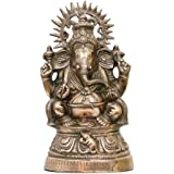 APKAMART Lord Ganesh Statue with Chakra - Religious Artifact cum Showpiece Figurine for Home D'cor, Room D'cor and Gifts - 17 Inches