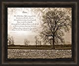 Home Cabin Décor Choices by Susie Boyer 20x24 Tree Rocks Sepia James Williamson Quote Inspirational Motivational Framed Art Print Picture