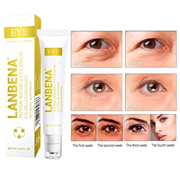 fe85b6e1750 Amazon.com: Fanmin LANBENA Anti-aging Peptide Repair Hydrating Eye Serum,Peptide  Serum Essence Rollerball Repair Puffy Eyes, Dark Circles,Wrinkles,Crows ...