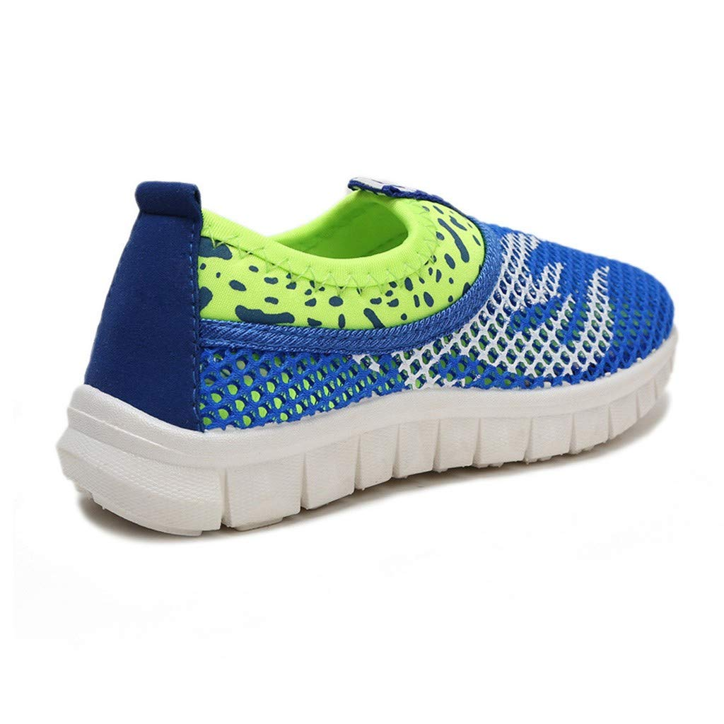 Waymine Infant Kids Mesh Flame Love Sport Breathable Run Casual Sneakers for Boys and Girls