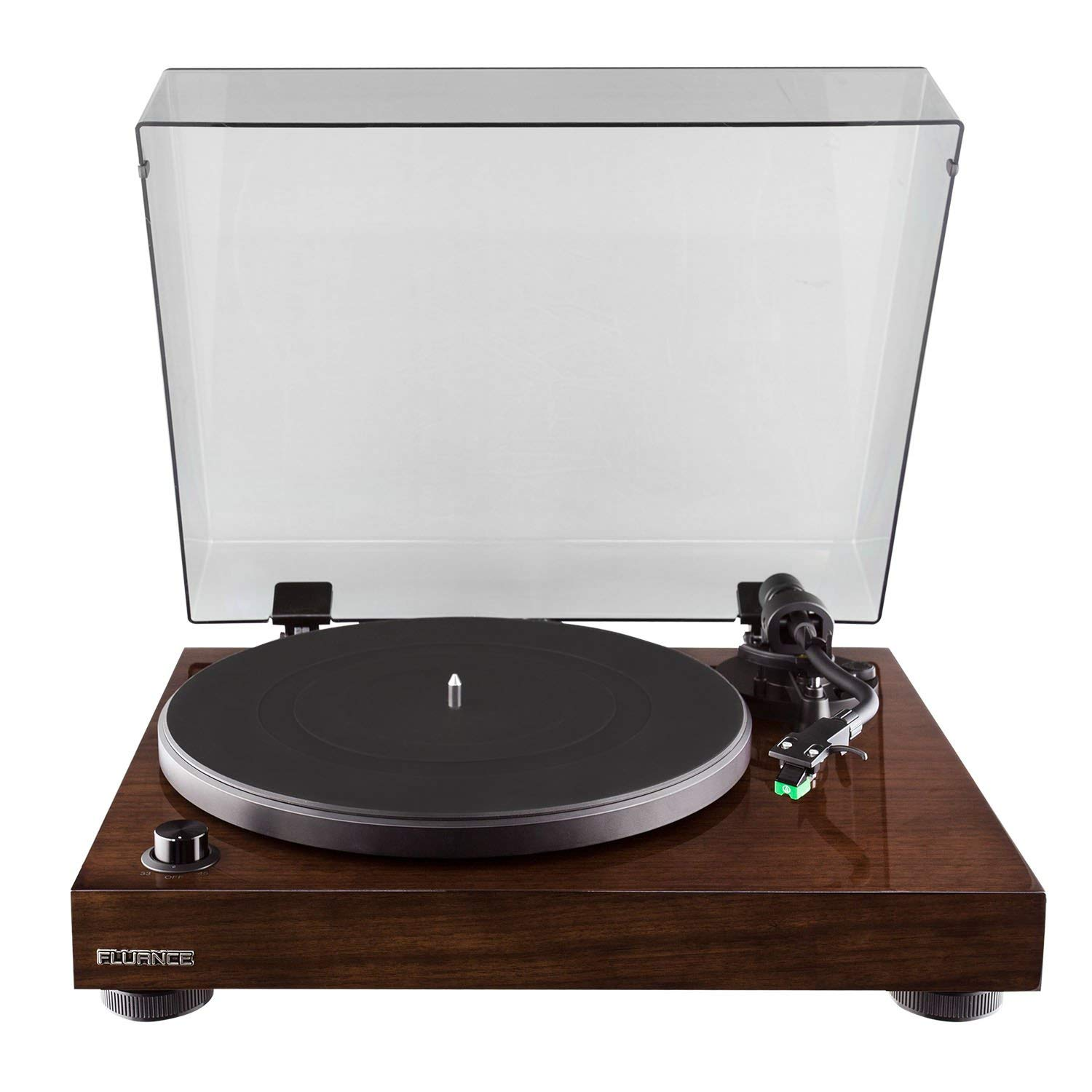 [Fluance][Fluance RT81 High Fidelity Vinyl Turntable Record Player with Dual Magnet Cartridge, Elliptical Diamond Stylus, Belt Drive, Built-in Preamp, Adjustable Counterweight & Anti-Skating, Solid Wood Cabinet](Parallel Imported Goods)   B07R448SK9