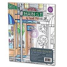 Prima Marketing 655350590086 Main Street USA Adult Coloring Book