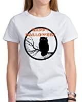 CafePress - VINTAGE HALLOWEEN OWL Women's T-Shirt - Womens Cotton T-Shirt, Crew Neck, Comfortable & Soft Classic Tee