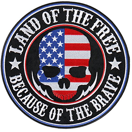 - Hot Leathers Land of the Free Skull Patch (Multicolor, 4