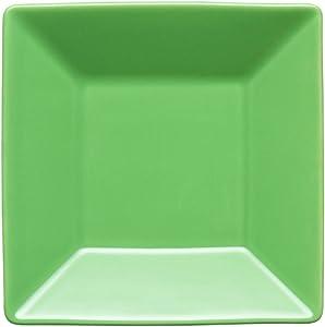 Waechtersbach Small Rimmed Square Plate, Set of 2, Green Apple