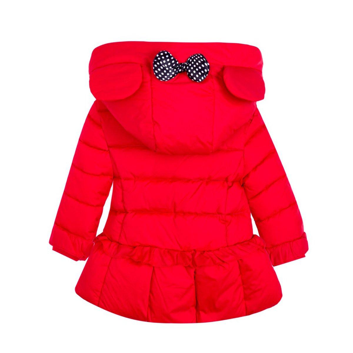 Ankoee Chaqueta Abrigo con Capucha para niñas de Pluma Plumón Invierno Mangas Largas 3 4 5 6 7 8 9 10 11 12 años - Rojo Púrpura Rosa: Amazon.es: Ropa y ...