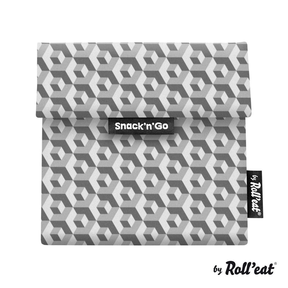 Rolleat SnacknGo Sac /À Go/ûter R/éutilisable Tiles G/òtic