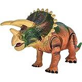 Dinosaurio de juguete, Arfbear [2017] Eléctrico, Automático de caminar, Sonidos realistas, Suave material TPR, como la vida, Triceratops dinosaurio juguete para niños