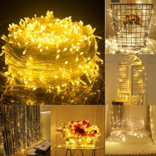 Low Voltage Outdoor Party Lights: Uping 200 LED String Lights