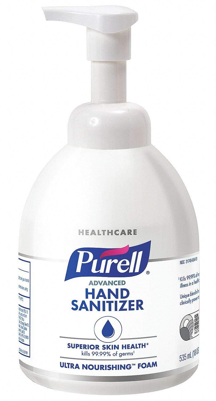 Advanced Hand Sanitizer Ultra Nourishing Foam, 18oz, Fragrance Free, 4/Ct
