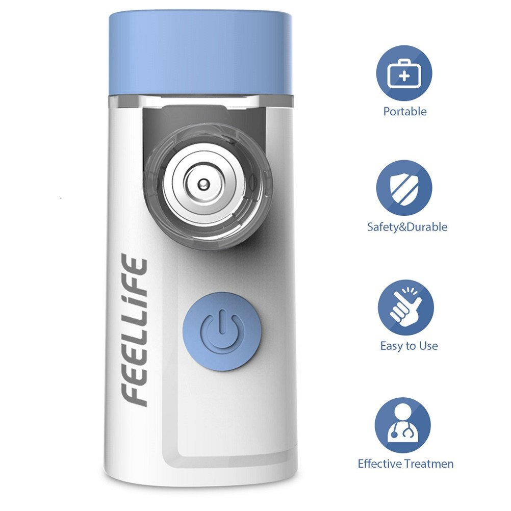 FEELLIFE Rechargeable Portable Mesh Travel Steam Inhaler Air pro3, Hand held Cordless for Kid Adult