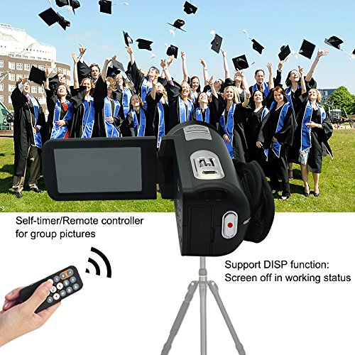 """Camcorder Video Camera Full HD 1080p @30fps Camcorders 3"""" Touch Screen Digital Camera Support Webcam with Remoter Controller by COMI (Image #3)"""