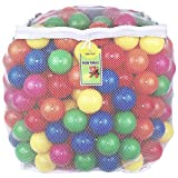 Click N' Play 0005C Value Pack of 400 Phthalate Free BPA Free Crush Proof Plastic Ball, Pit Balls-6 Bright Colors in Reusable and Durable Storage Mesh Bag with Zipper