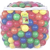 Click N' Play Value Pack of 400 Phthalate Free BPA Free Crush Proof Plastic Ball, Pit Balls - 6 Bright Colors in Reusable and Durable Storage Mesh Bag with Zipper