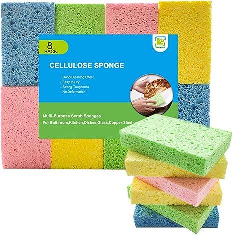 Kitchen Cleaning Sponge Foam Dish Pot Dishwashing Brush Car Cleaning Pad  3PCS