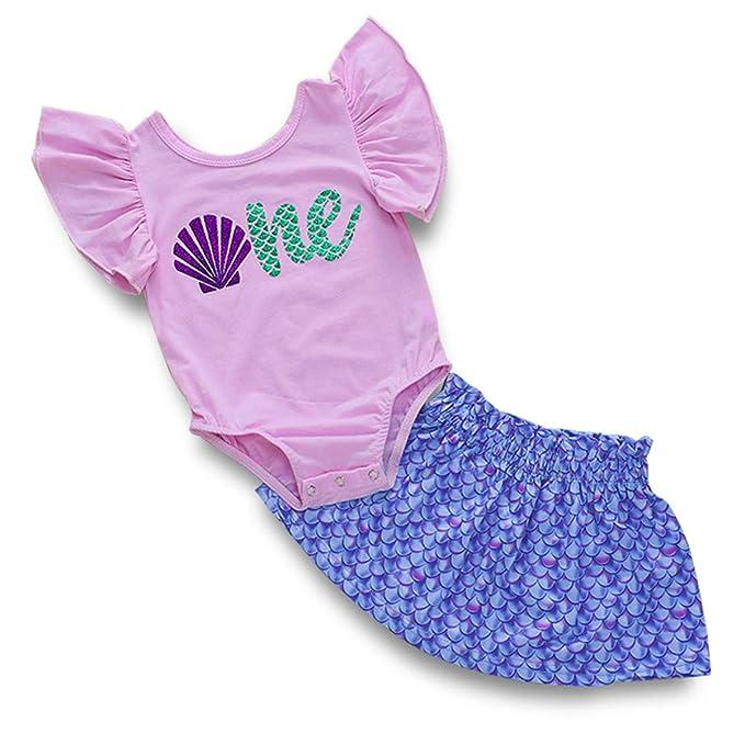 Amazon.com: Falda para niñas de 1 cumpleaños, diseño de ...
