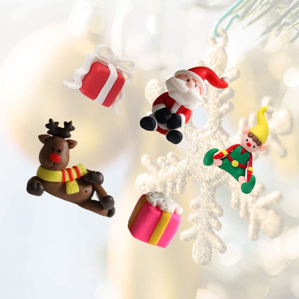 Toyvian 3 Piezas Pastel de Navidad Topper Cupcake Topper figuritas Juguetes en Miniatura selecciones de Pastel Fiesta favorece Decoraciones de Pastel Topper