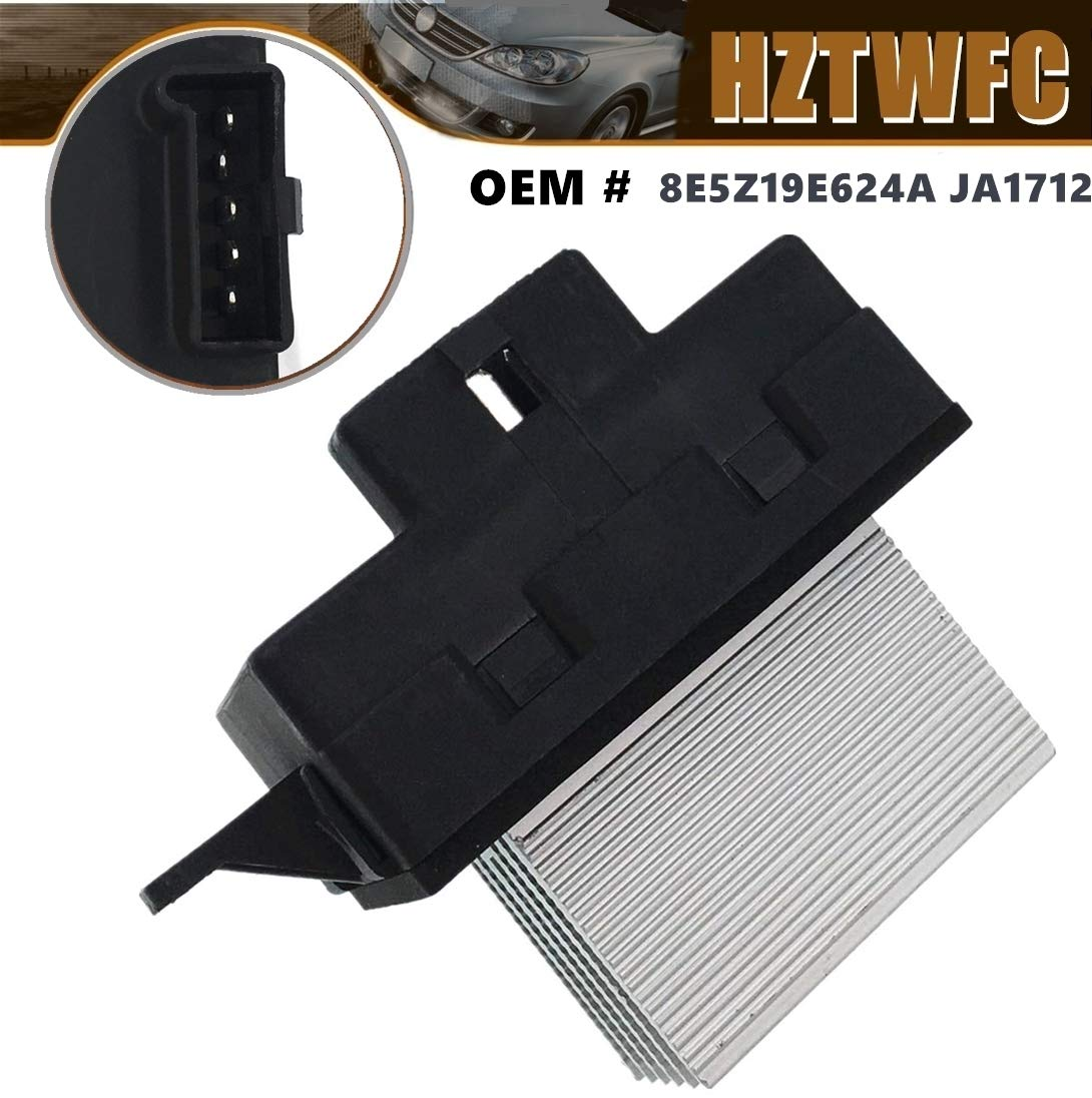 HZTWFC Blower Motor Resistor 8E5Z19E624A JA1712 For Ford Fusion Lincoln MKZ Zephyr Mercury Milan