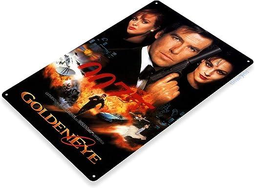 TIN SIGN 007 Golden Eye James Bond Movie Poster Home Theater A001