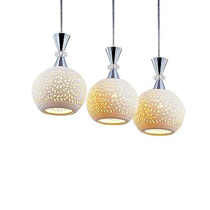 MEGSYL Lámparas de cerámica Huecas, candelabros de Cristal ...