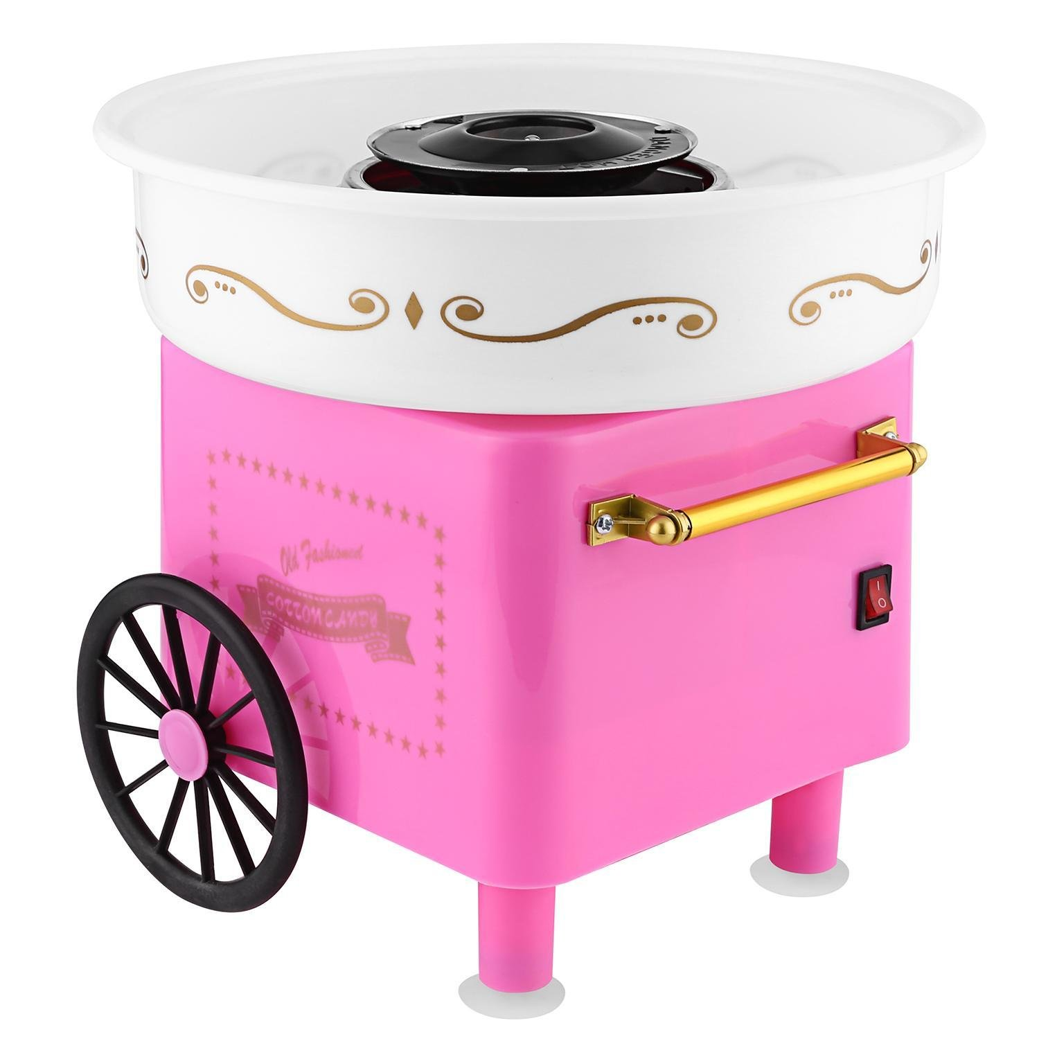 Goodfans Family Party Pink Stainless Steel Safe Cute Casual Cotton Candy Machine Homemade Sweets for Birthday Parties (Pink, One size) by Goodfans
