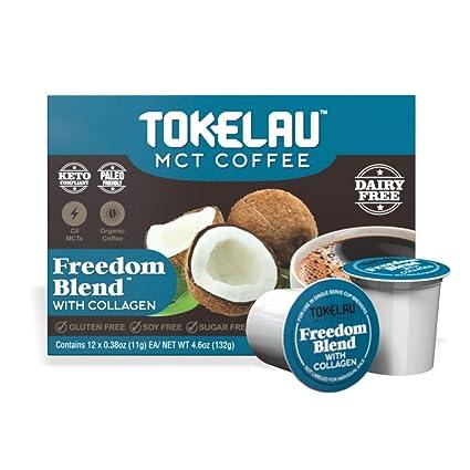 Tokelau Keto Cápsulas de café crema de colágeno, apoyo buena ...