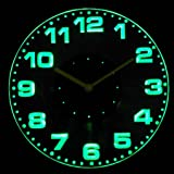 cnc2007-g Round Modern Numerals Illuminated Edge Lit Bar Beer Neon Sign Wall Clock with LED Night Light