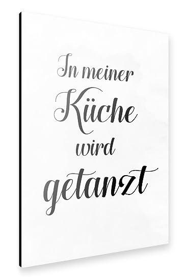 Amazon.de: artboxONE Alu-Print 60x40 cm In meiner Küche wird ...