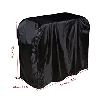 BBQ Cover Barbacoa Impermeable Color Negro 190T 170×61×117 Funda Protectora para Barbacoa