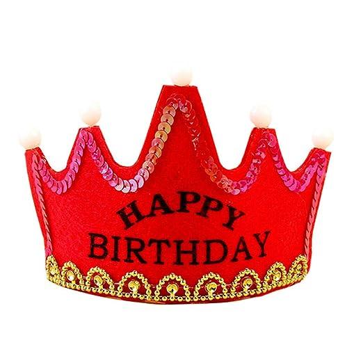 Led Luminoso Cumpleaños Sombrero Princesa Rey Feliz ...