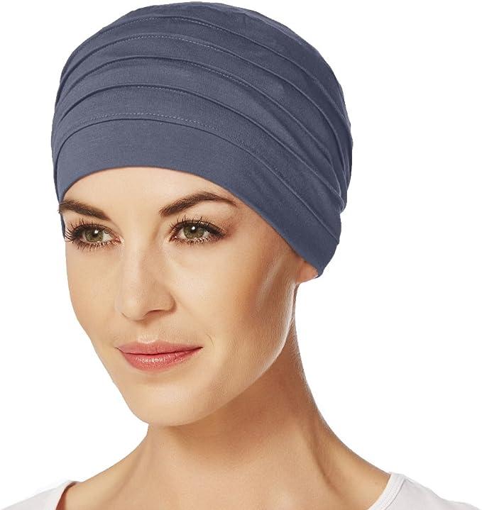 Gorro Yoga con bambú de color azul para quimioterapia: Amazon.es ...