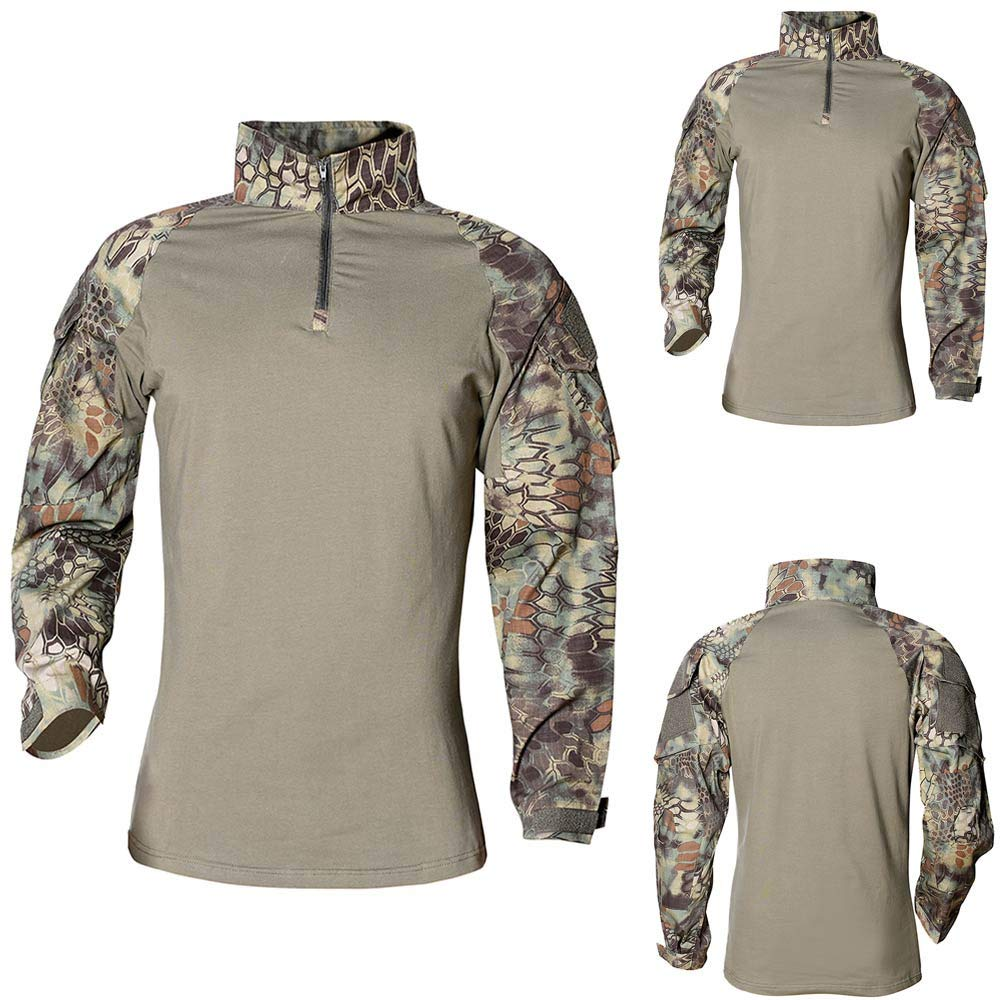 kingfansion Speed Army T-Shirt Men RU Tactical Combat Soldiers Pullover Top
