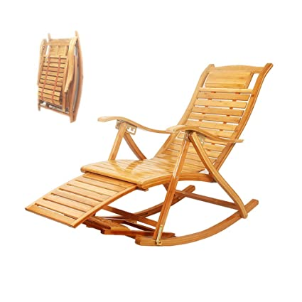 Excellent Amazon Com North Bamboo Splicing Folding Wooden Rocking Ncnpc Chair Design For Home Ncnpcorg