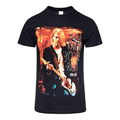 46fe3890 Image Unavailable. Image not available for. Colour: Nirvana Kurt Cobain You  Know You're Right T-Shirt. Roll over image to zoom in. ill Rock Merch