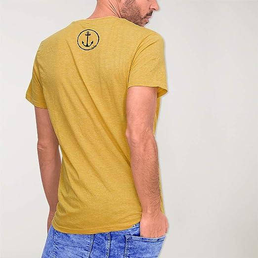 VIENTO Coco Surf Mostaza Camiseta para Hombre: Amazon.es: Ropa y ...