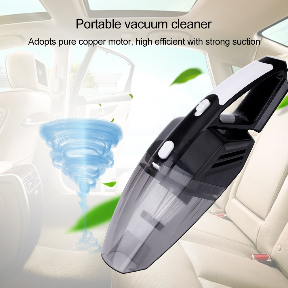 12V 120W Portable Car Vacuum Cleaner 3500Pa Suction Wet Dry Dust Buster With Led Light for Auto Vehicle(Black) by Yosooo (Image #6)
