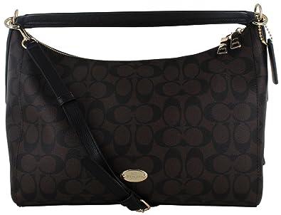 Coach Signature East West Celeste Convertible Hobo Crossbody Handbag (Brown) 0e60d91c1b